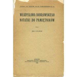 DANIŁOWSKI Władysław, Notatki do pamiętników