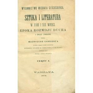 SZTUKA i literatura w XVIII i XIX wieku. T. I/II (1 vol.)