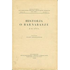 HISTORYA o Barnabaszu z r. 1571.