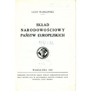 WASILEWSKI Leon, Skład narodowościowy państw europejskich.
