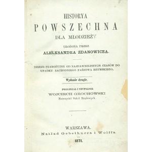 ZDANOWICZ Aleksander, Historya powszechna dla młodzieży.