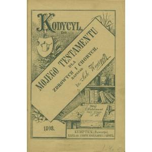 KNEIPP S. Kodycyl, do mojego testamentu dla zdrowych i chorych.
