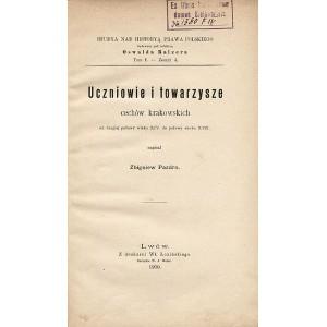 PAZDRO Zbigniew, Uczniowie i towarzysze cechów krakowskich