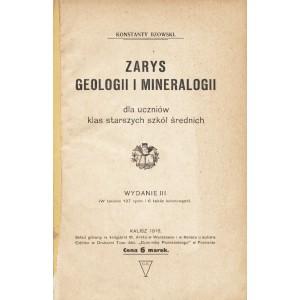 BZOWSKI Konstanty, Zarys geologii i mineralogii