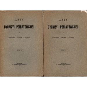 PONIATOWSKA Dyonizya, Listy do Bohdana i Józefa Zaleskich T. I/II